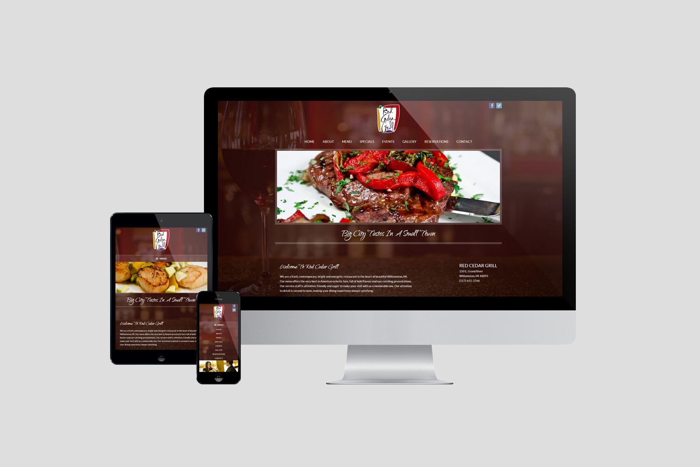 Red Cedar Grill Website