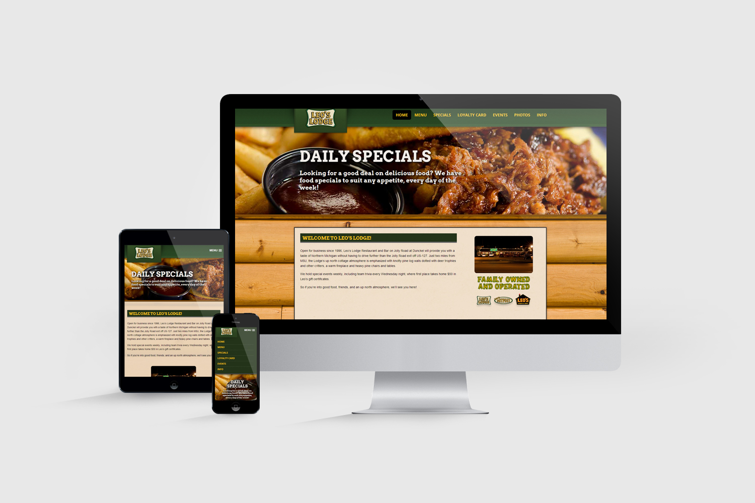 Leo's Restaurants Responsive Website