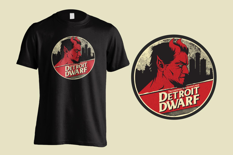 Old Nation Detroit Dwarf Tee Shirt