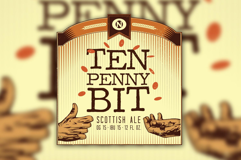 Ten Penny Bit Beer Label