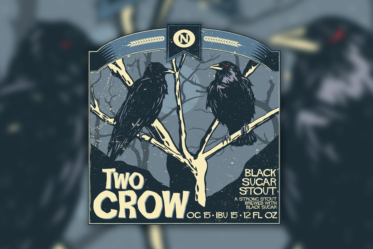 Two Crow Beer Label
