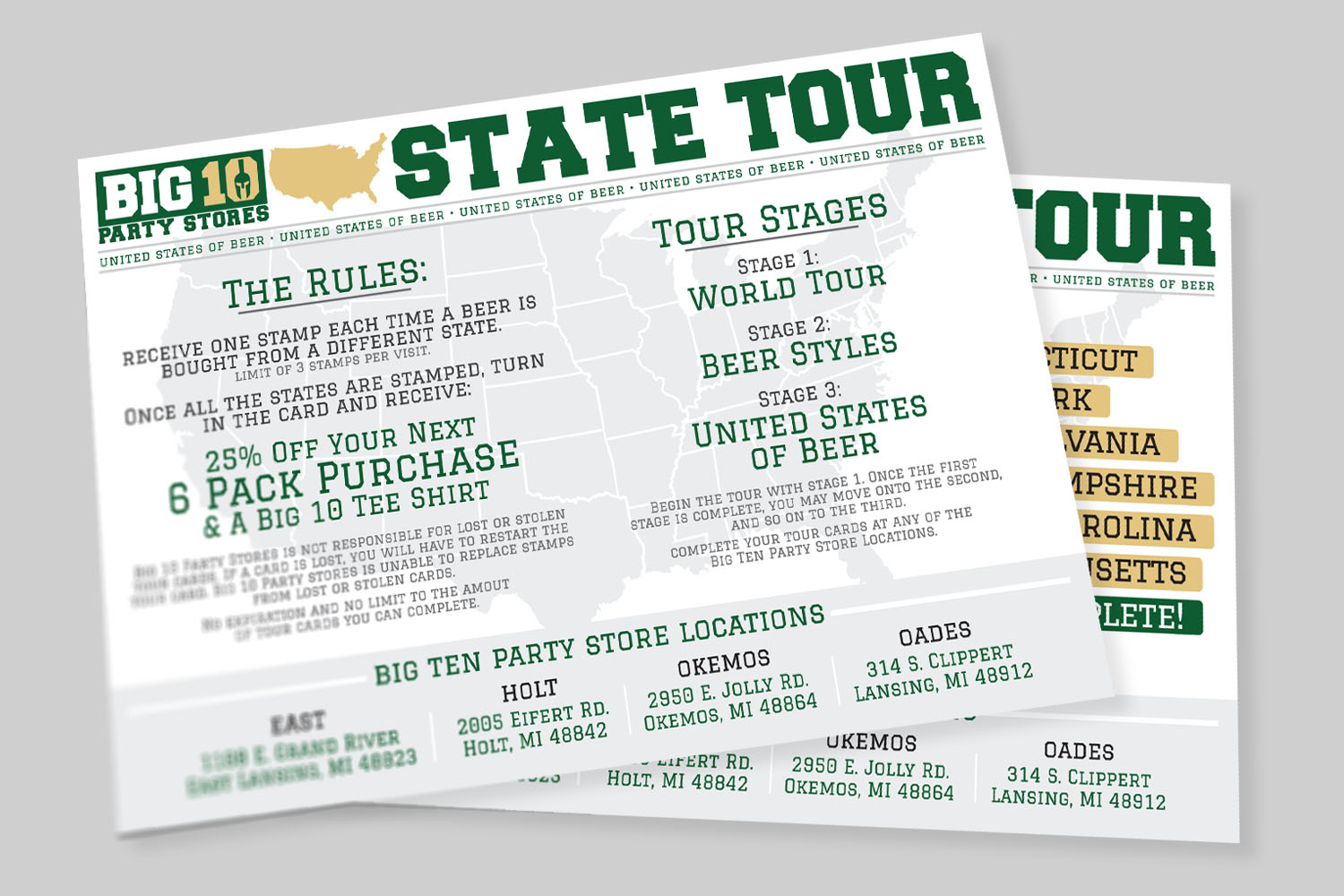 Big Ten Tour Cards