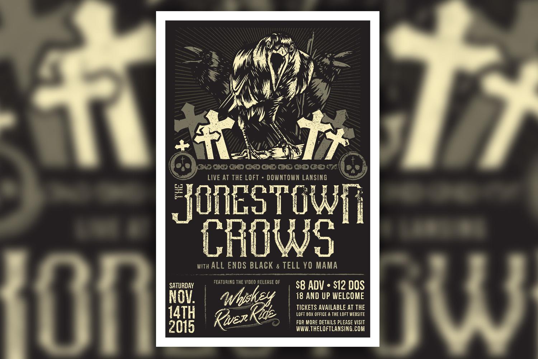 Jonestown Crows Event Poster