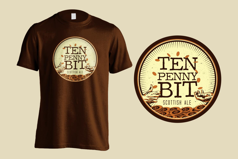 Ten Penny Bit Shirt Design
