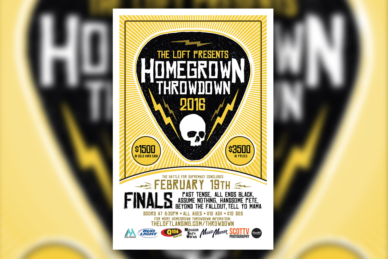 2015 Homegrown Throwdown Finals Poster