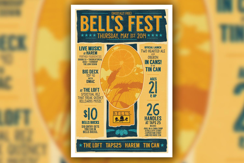 2014 Bell's Fest Poster