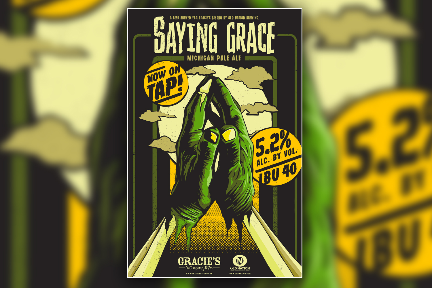 Gracie's Bistro Saying Grace Craft Beer Poster