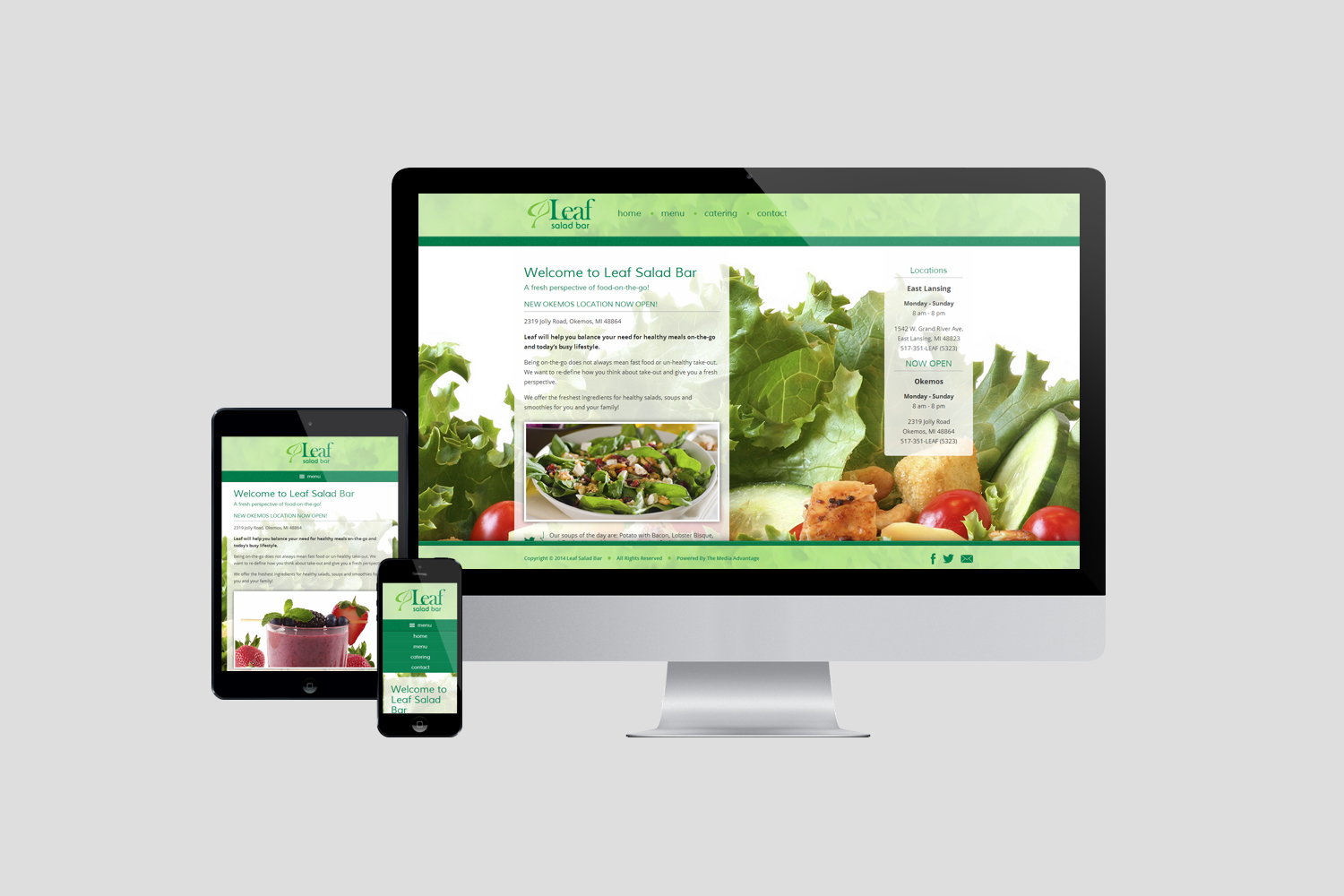 Leaf Salad Bar Website Design