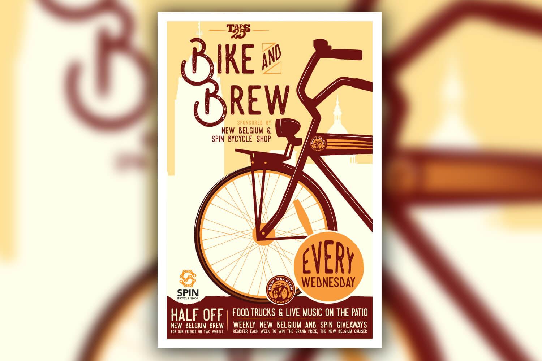 Bike & Brew Poster