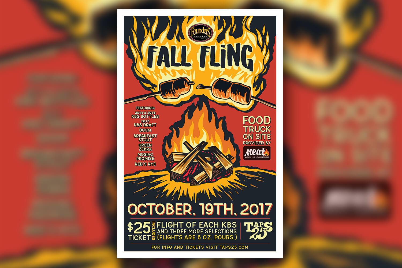 Founder's 2017 Fall Fling Poster