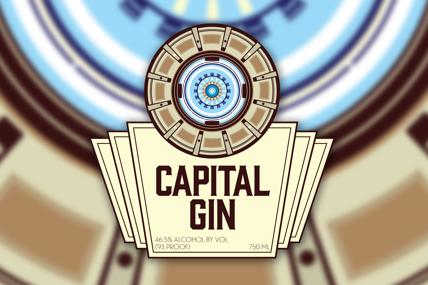 Capital Gin Label