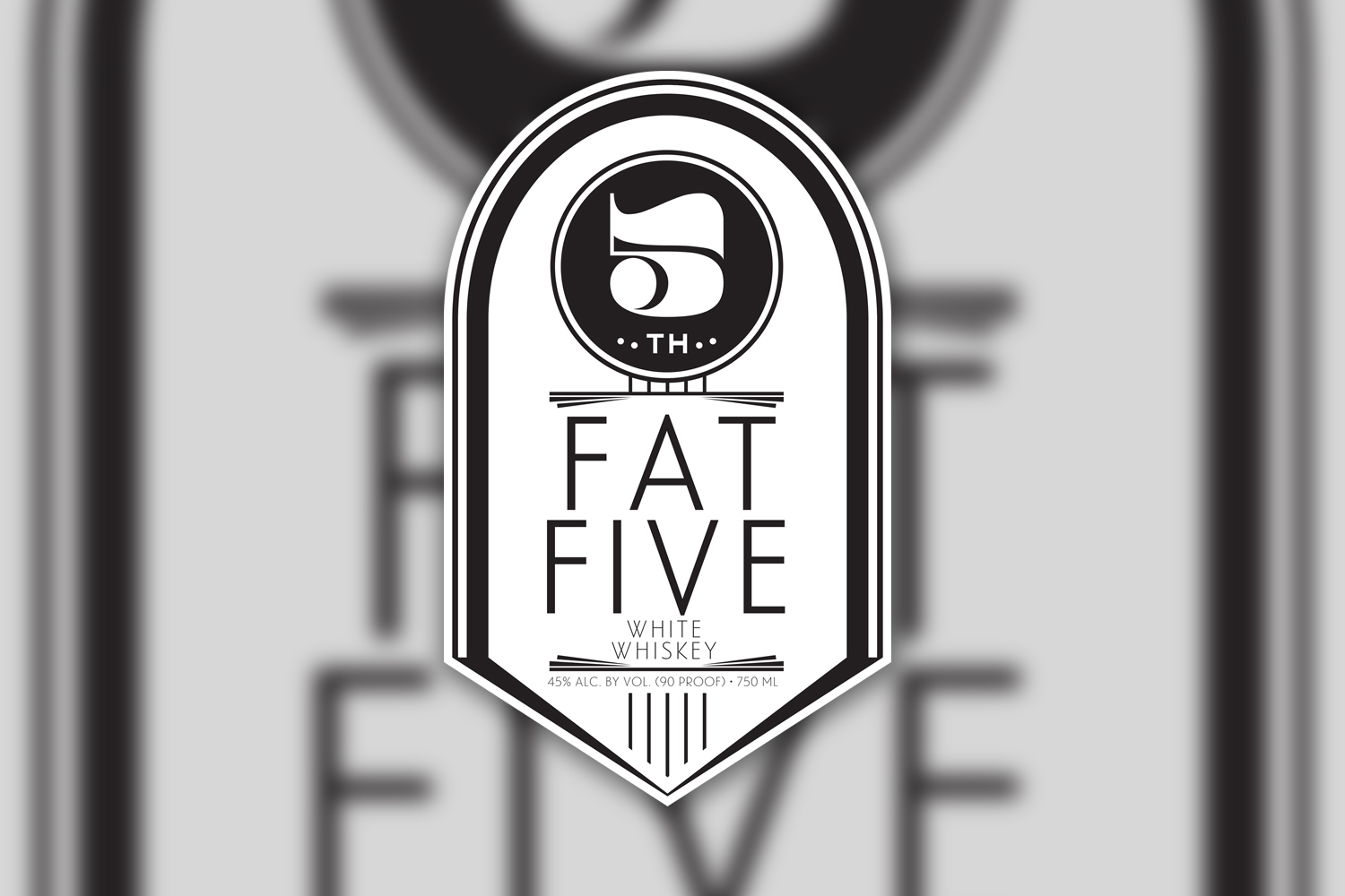 Fat Five White Whiskey Label