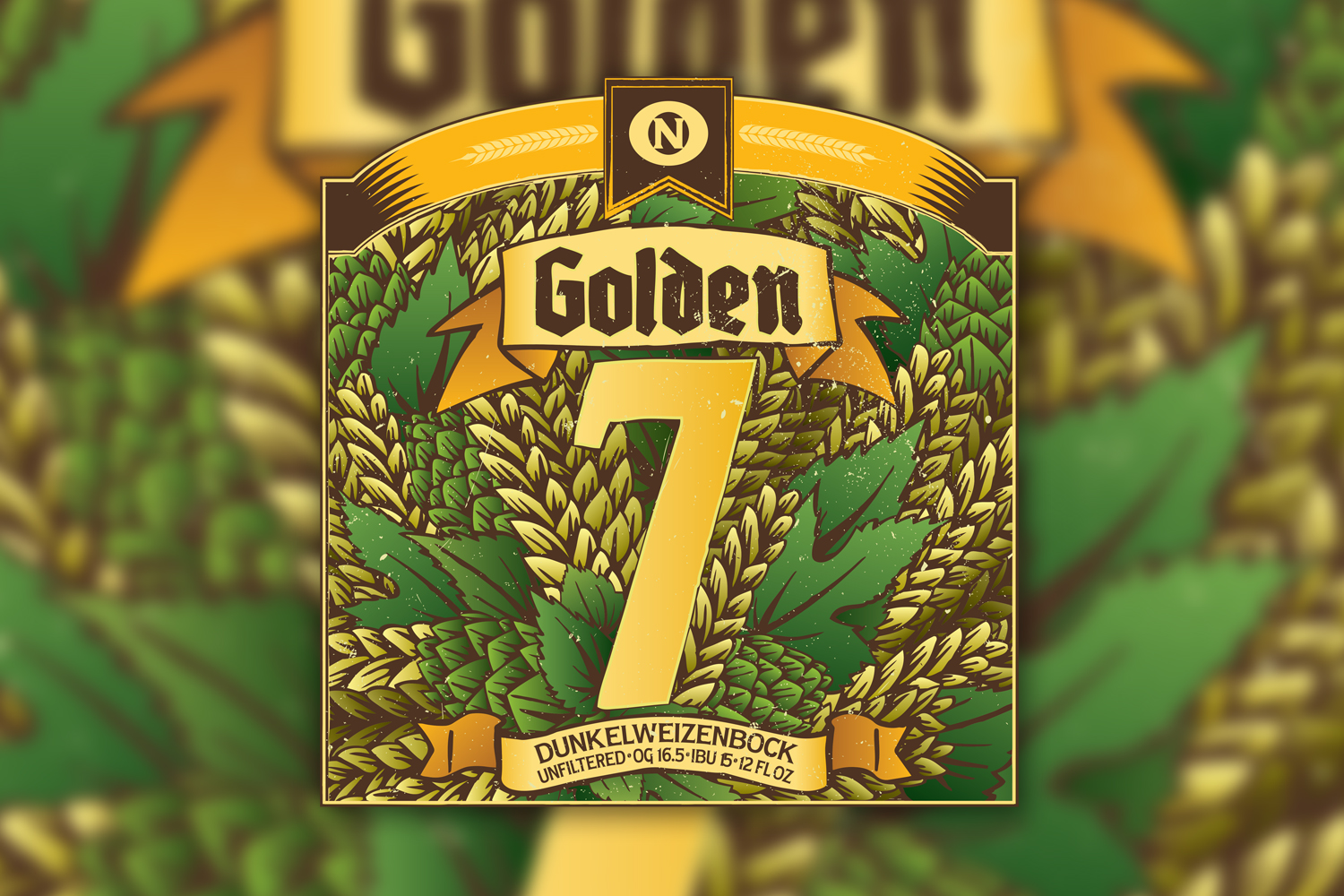 Golden 7 Beer Label