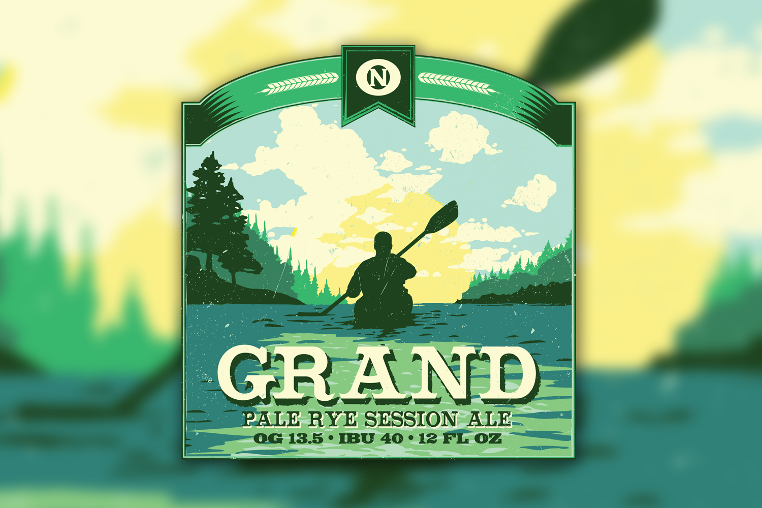 Grand Pale Rye Session Ale Beer Label
